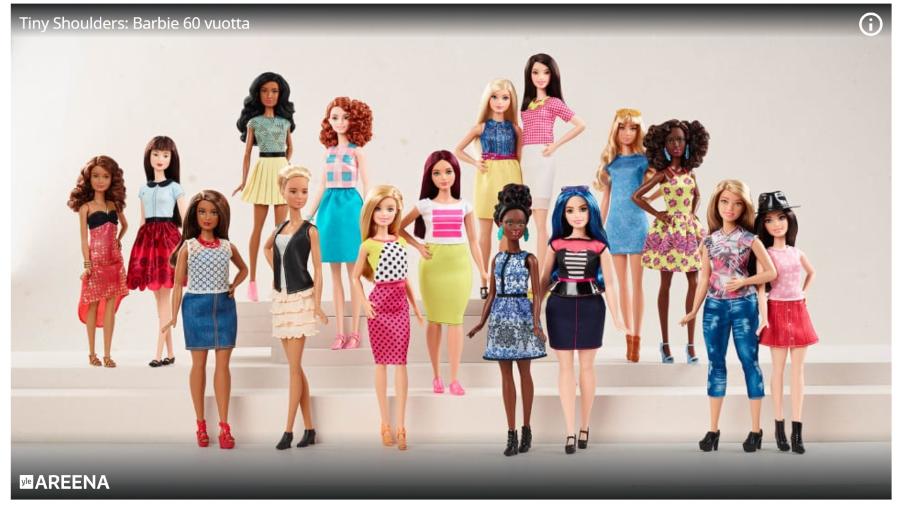Tiny Shoulders: Barbie 60 vuotta Teemalla tänään